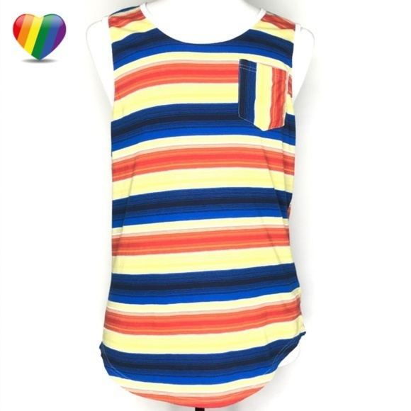 Carbon Other - Carbon Multi-Striped Summer Tank Top A020477